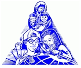drawing of children and tutors - blue